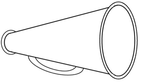 megaphone template free printable cheerleading clipart 57