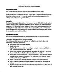 template statement of purpose 7 statements of purpose exles sles