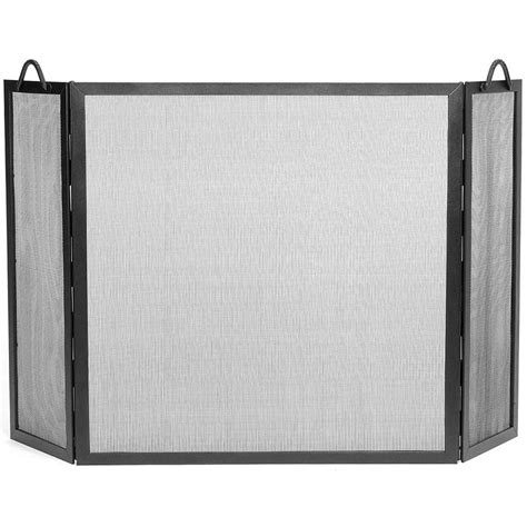 Tri Fold Fireplace Screen by Pictured Here Is The Large Tri Fold Twisted Rope Fireplace