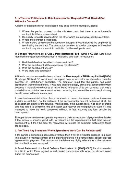 Letter Of Intent Quantum Meruit quantum meruit