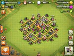 coc strong base structures for lvl6 townhall th 6 war base google search clash of clans pinterest