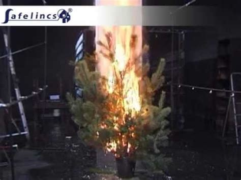 christmas tree fire extinguisher extinguishing a tree with a water mist extinguisher