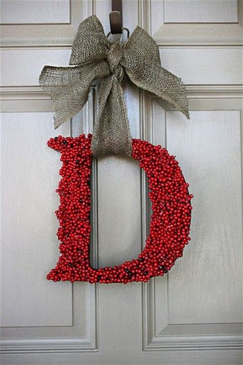 Letter Wreaths For Door by Front Door Wreath Single Letter Holidays And Special