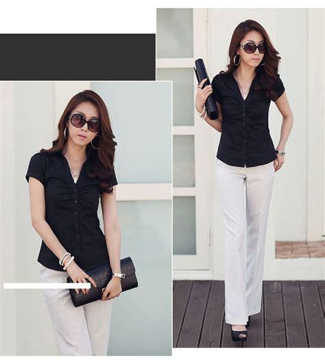 Top Kemeja Putih Fashion Casual Wanita Bagus Murah 17 best images about jual baju kerja wanita murah on brown belt and the office