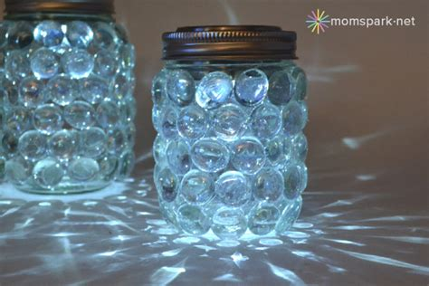 How To Decorate A Chandelier With Beads Diy Easy Mason Jar Luminaries Mom Spark Mom Blogger