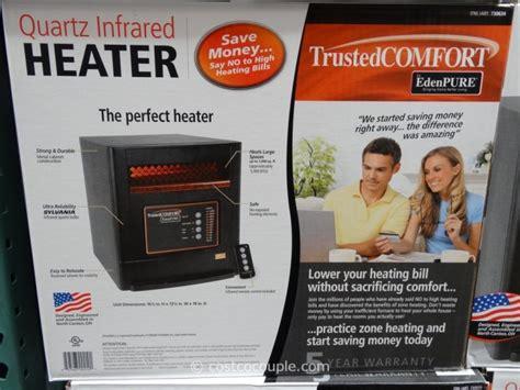 edenpure trusted comfort trusted comfort quartz infrared heater