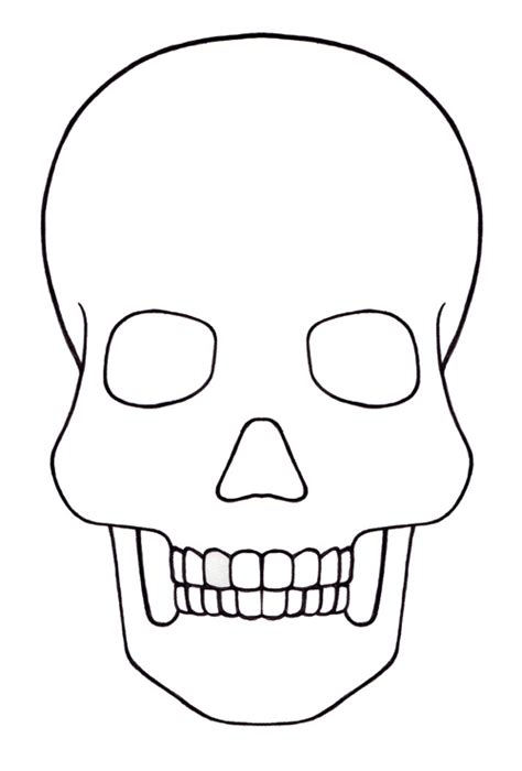 Day Of The Dead Mask Printable Kate Eschbach Skull Cut Out Template