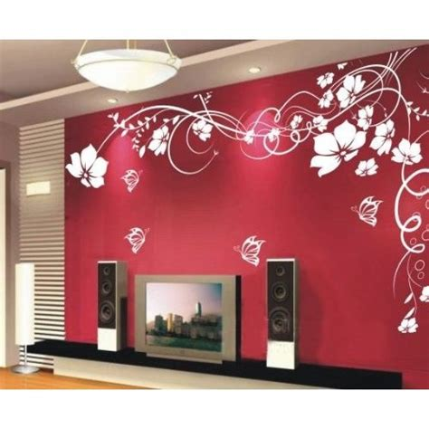 amazon home decor wall sticker wall decor flowers with butterfly and vines