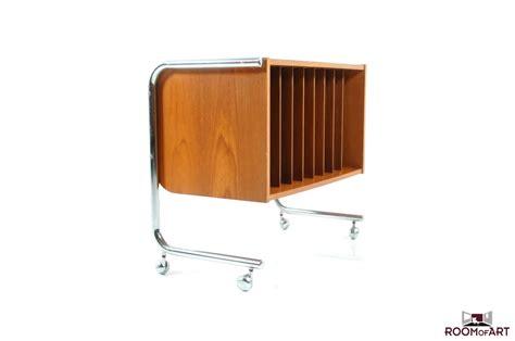 Lp Racks by Chromed Teak Wooden Lp Rack Room Of