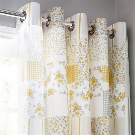 garden pair of 168x229cm curtains lemon grey brandalley