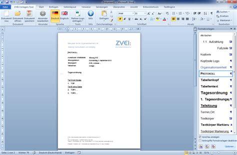 Vorlage Word Protokoll Eworks Referenz Entwicklung Word Vorlagen F 252 R Gesch 228 Ftskorrespondenz