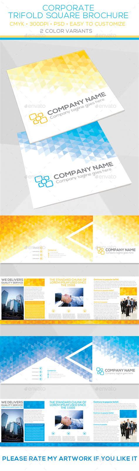 Print Template Graphicriver Corporate Trifold Square Brochure Template 10397788 187 Dondrup Com Square Trifold Brochure Template