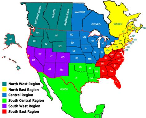 us map divided south east west draught society regions