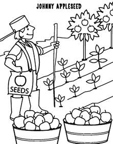 free printable johnny appleseed coloring pages coloring home