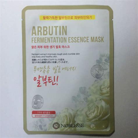 noblesse arbutin fermentation essence mask 20g x 1 sheet