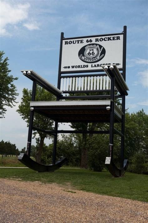 largest rocking chair gc73y7h route 66 quot largest rocking chair in the world