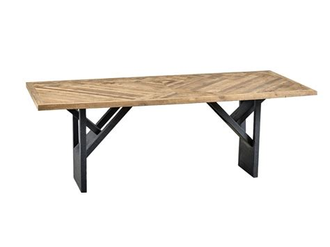 dialma brown tavoli tavolo da pranzo rettangolare in legno di recupero
