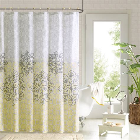 Yellow Patterned Curtains Yellow Patterned Shower Curtains Curtain Menzilperde Net