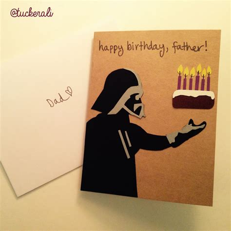 Gift Card For Dad - today in ali does crafts darth vader birthday card for dad birthdaycard cards