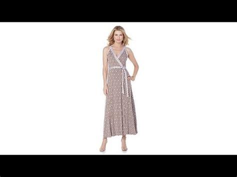 Velove Maxy Dress Hq 1 g by giuliana printed sleeveless wrap maxi dress