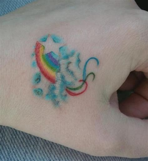 small rainbow tattoos small rainbow design on rainbow