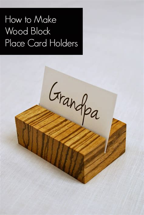 make place card holders fifty two weekends of diy how to make wooden place card