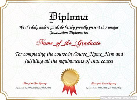 graduation diploma template diploma of graduation template