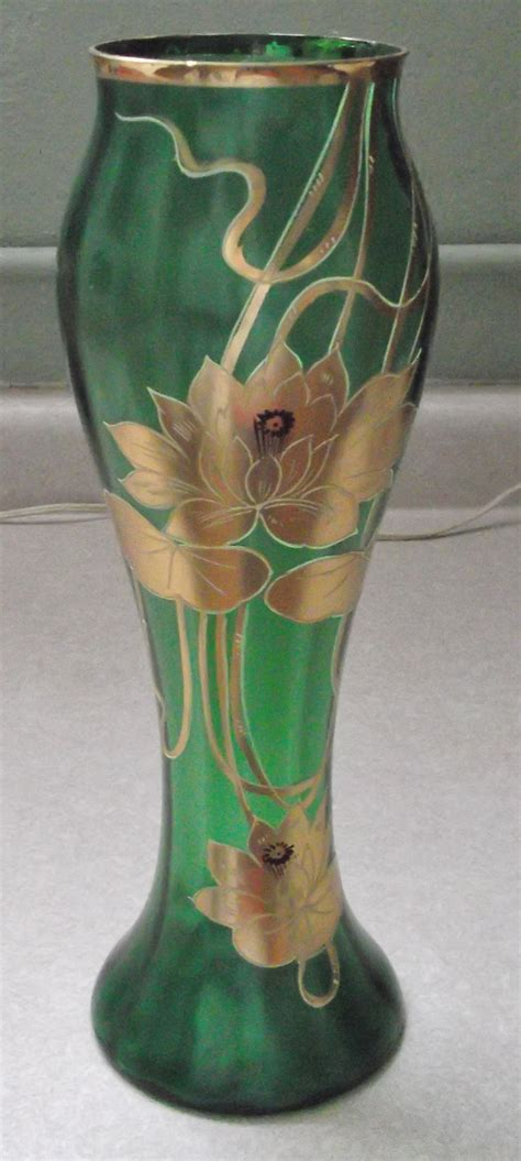 Antique Glass Vase Identification by Help Id Green Glass Vase Antiques Board
