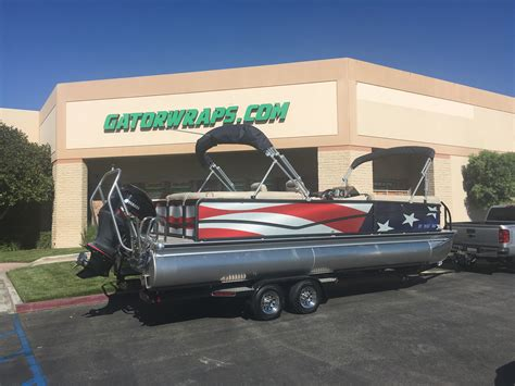 boat wraps pontoon custom pontoon boat wrap gator wraps