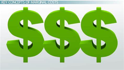 marginal costs marginal cost definition equation formula