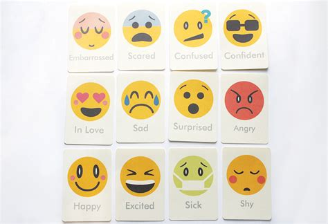 printable emotion faces card emotions flash cards