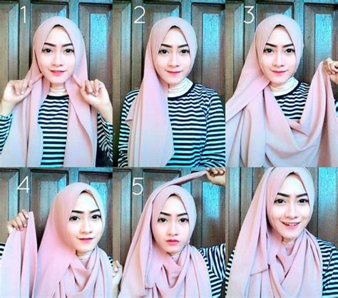 tutorial hijab gaya simple tutorial hijab pashmina diamond italiano terbaru