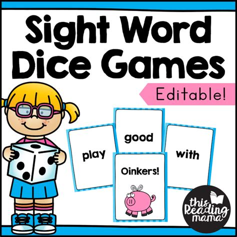 free printable editable dice editable sight word dice games with cards this reading