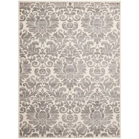 Safavieh Porcello Rug by Safavieh Porcello Grey Ivory 8 Ft X 11 Ft 2 In Area Rug