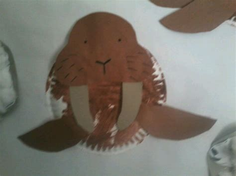 Walrus Paper Plate Craft - walrus crafts ideas