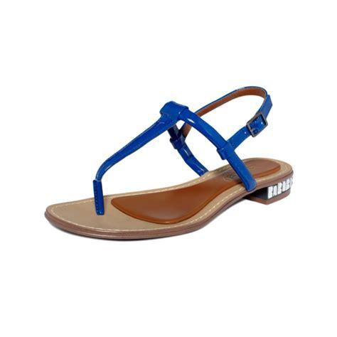 blue sandals boutique 9 bluestreak flat sandals in blue lyst