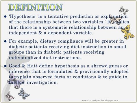 how to state a hypothesis in a research paper relationship between hypothesis and thesis variables and