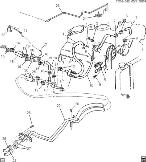 1999 suburban heater hose diagram chevy heater hose diagrams