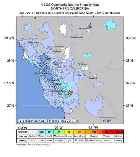 san jose earthquake map usgs earthquake san francisco san jose bay area friday january