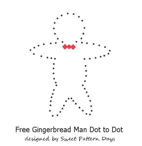 Free Printable Gingerbread Man Dot To Dot | gingerbread man dot to dot christmas printables