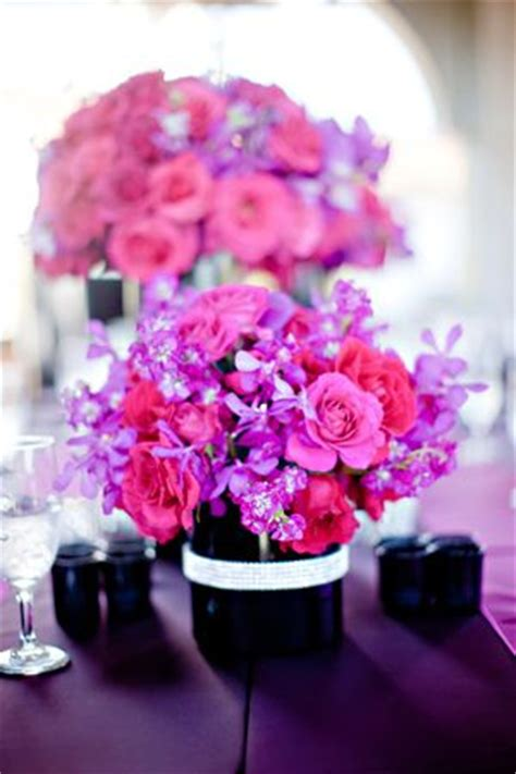 17 Best Images About Jewel Tone Weddings On Pinterest Pink And Purple Centerpieces