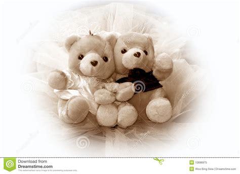 Teddy Wedding L wedding teddy bears stock image image of baby marriage