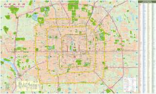 detailed map of maps of beijing detailed map of beijing city in