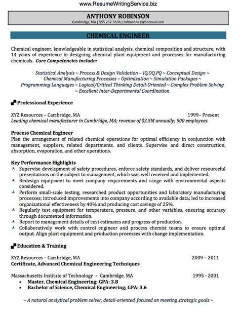Resume Template Chemical Engineering Get Chemical Engineer Resume Sle Here Resume Writing Service