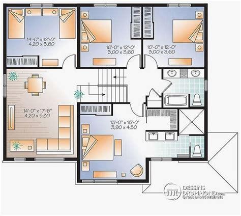 Plan Maison étage 4 Chambres 4289 by Plan De Maison 192 201 Tage 4 Chambres Ventana