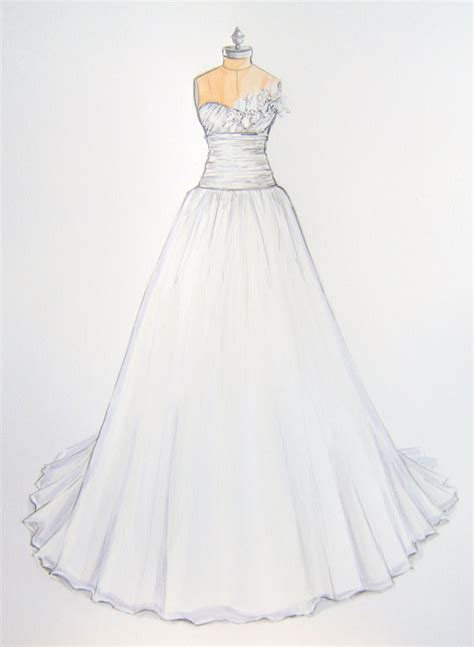 custom wedding dress custom wedding dress illustration bridal gown by