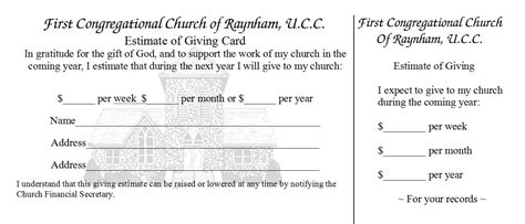 church finacial pledge cards template best photos of church card templates church invitation