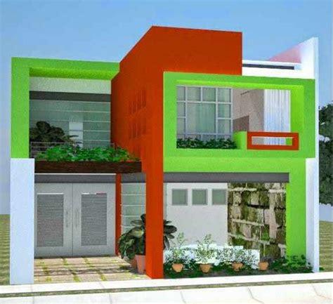 warna cat rumah bagian luar  bagus trend  hijau