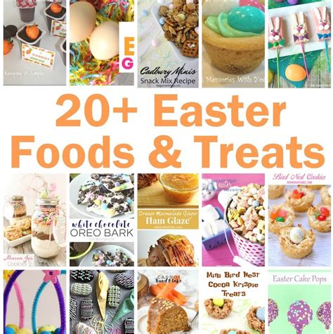 20 easter foods and treats and block gun