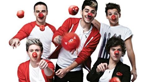 one direction red nose day celebrities call on scotland to get red nose day ready
